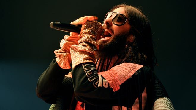 Jared Leto of Thirty Seconds to Mars performs in Manchester, England, last month.