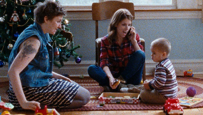 """Lena Dunham (from left), Anna Kendrick and Jude Swanberg star in """"Happy Christmas."""""""