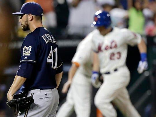 Brewers Mets Baseball