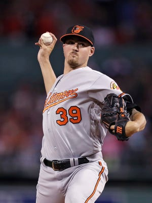 The Baltimore Orioles have traded pitcher Kevin Gausman to the Atlanta Braves. AP FILE PHOTO