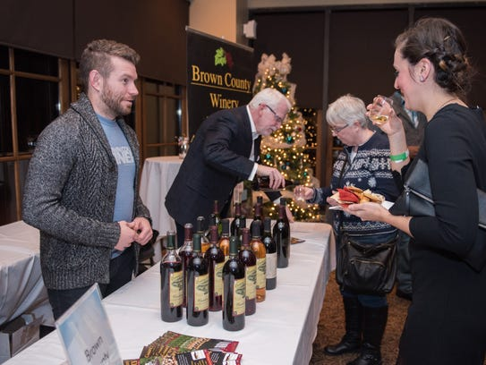 Samples of wine are served at Conner Prairie's adult-only