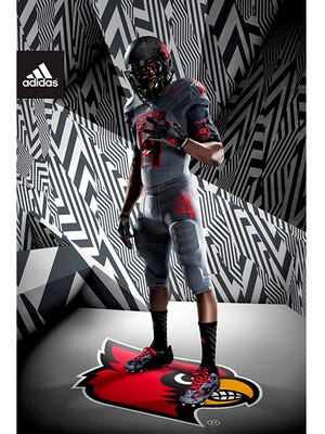 "U of L's new Adidas ""TECHFIT"" jerseys unveiled Monday are themed ""Showtime"" for the Florida State game."