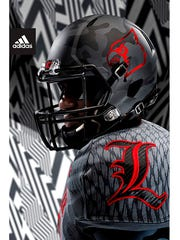 The first grey helmet in U of L history? Most likely, from Adidas.