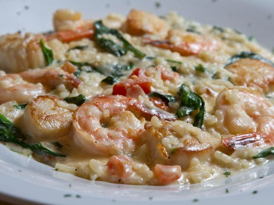 Shrimp and scallops risotto at Lighthouse Tavern.