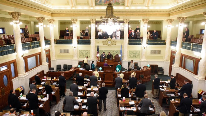 The house of representatives chambers on Wednesday Jan. 10, 2018 in the capitol building in Pierre, S.D.