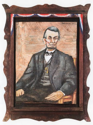 """""""Lincoln in Beersheba,"""" Red Grooms, 2010 is part of """"Lincoln on The Hudson,"""" at the Hudson River Museum"""