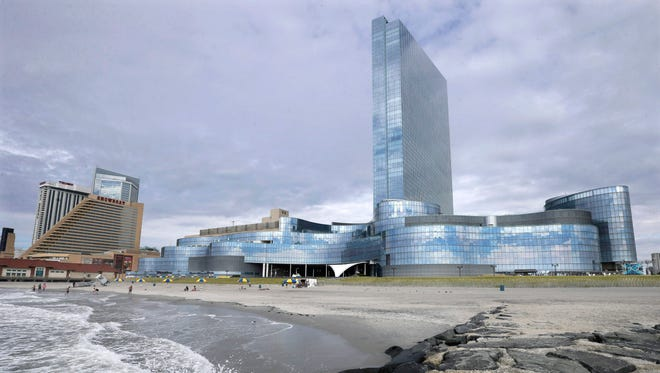 The Revel Casino Hotel, right, next to the already closed Showboat Casino Hotel in Atlantic City, N.J.