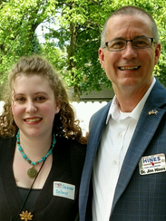 Desiree Delaney is pictured with gubernatorial candidate