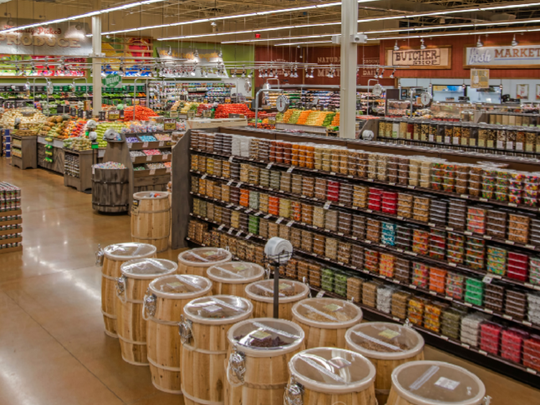 Customers can buy in bulk at Fresh Thyme Farmers Markets.