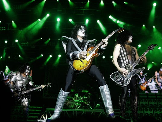 Kiss rocks out for military museum