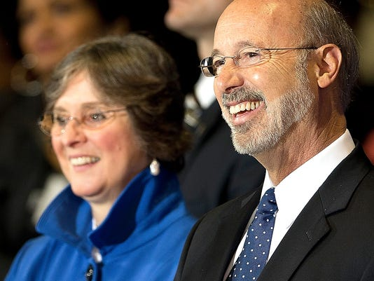 Frances Wolf, shown with husband Gov. Tom Wolf, says insurance should pay for 3-D mammograms.