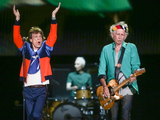 The Rolling Stones perform at Desert Trip, October 7, 2016. Though there was no Desert Trip in 2017, valley hotels still showed an uptick in occupancy rates which the Greater Palm Springs Convention & Visitors Bureau says came from a marketing push.