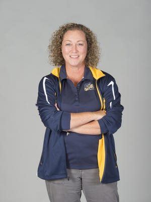 Gulf Breeze High swimming coach Katharine Edwards becomes repeat winner as 2017 PNJ swim coach of year after Dolphins fare well in district, region and state meets.