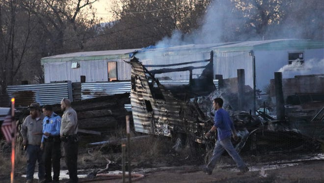 Tularosa and Otero County fire investigators determined Feb. 1 camper and mobile home fire was accidential.