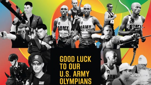 Photo graphic of U.S. Army Olympians.