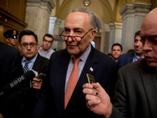 Senate Minority Leader Sen. Chuck Schumer of New York.