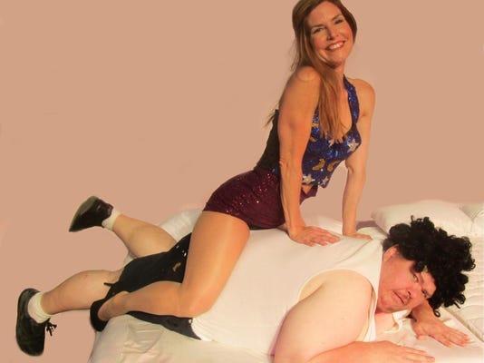 The Ritz is an adult-themed farce featuring Maria Alvey as Googie Gomez an