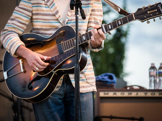 Pokey LaFarge performed for a crowd at Canan Commons