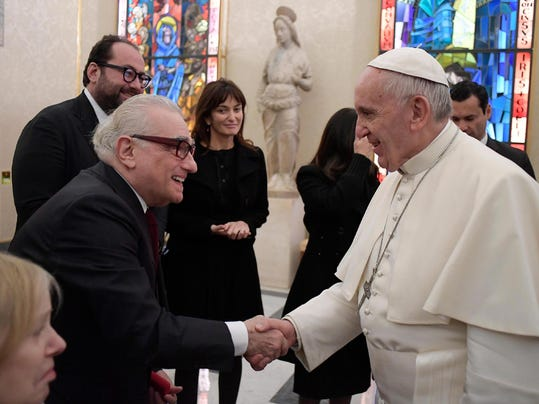 Pope Francis receives Martin Scorsese
