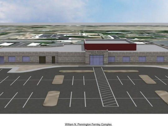 A proposed rendering of the new Fernley Senior Center.