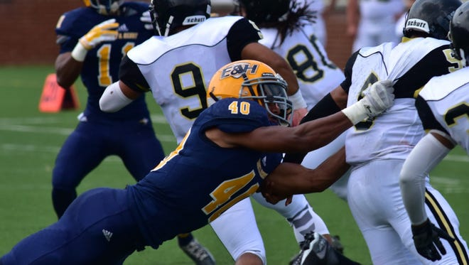 Former Fort Defiance Indian Ryan Byrd (40) moved to safety this season for Emory and Henry.