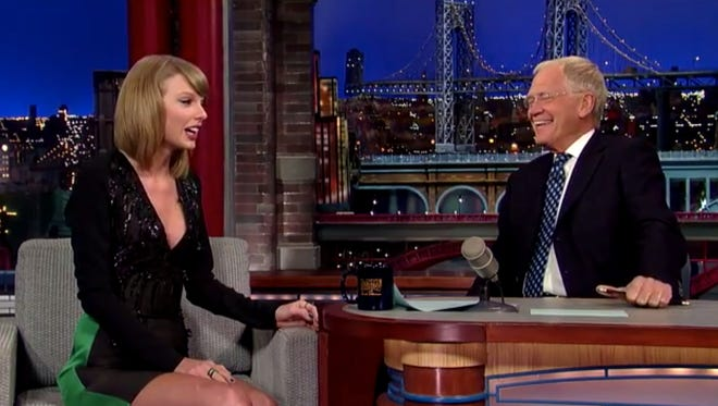 Taylor Swift chats with David Letterman.