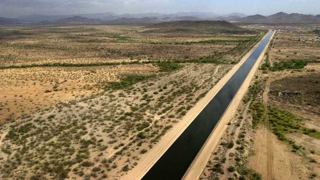 Colorado River water flows from western Arizona through the Central Arizona Project canal to Phoenix and Tucson.