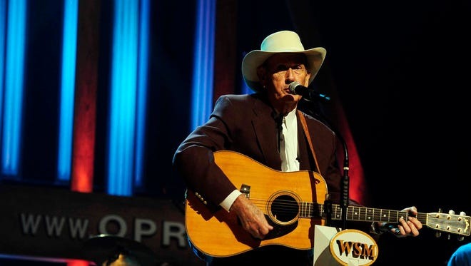 Jimmy C. Newman performs at the 85th birthday celebration at the Grand Ole Opry House in Nashville on Oct. 9, 2010.