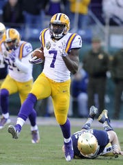 LSU's Leonard Fournette had a Music City Bowl record 264 all-purpose yards against Notre Dame.