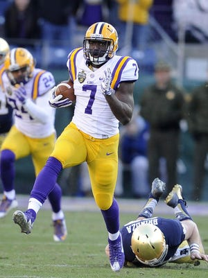 LSU's Leonard Fournette had a Music City Bowl record 264 all-purpose yards against Notre Dame on Dec. 30.