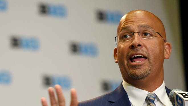 Penn State head coach James Franklin has landed a number of big-time recruits recently. AP FILE PHOTO