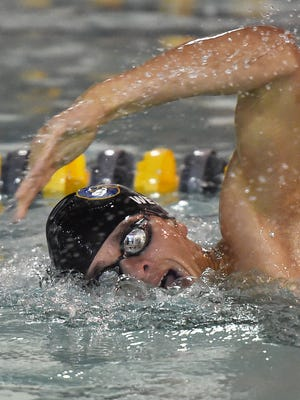 Cape's Jack Weeks set a new school freestyle record of 1: 51:28 as Cape Henlopen High School hosted Sussex Central for a swim meet at the YMCA in Rehoboth Beach on Jan. 12.