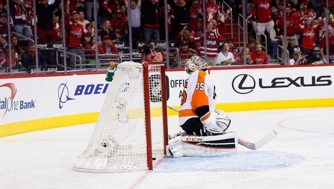 Flyers goalie Steve Mason was left with a sick feeling, knowing that the game-winning goal was scored from center ice.