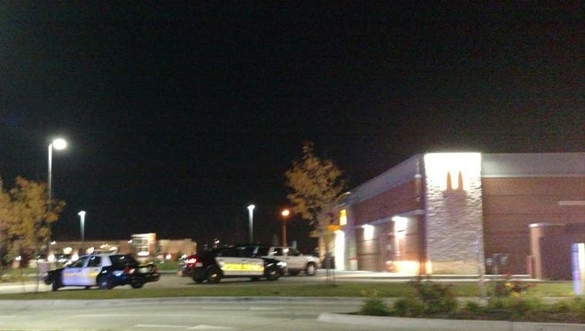 Ankeny police said two people were shot outside a McDonald's on Saturday, Oct. 24, 2015.