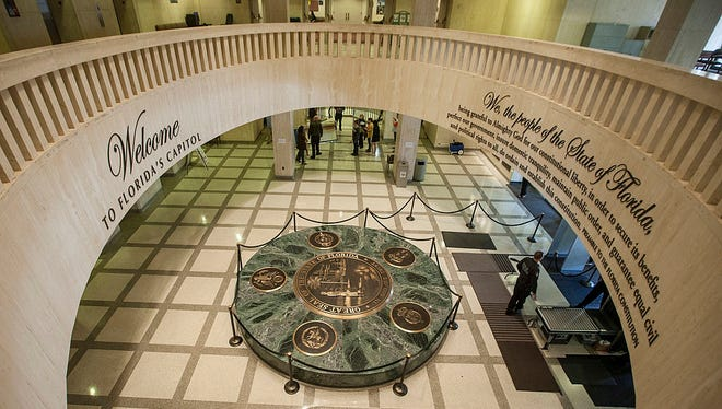 FILE - The rotunda of the Florida Capitol on Dec. 11, 2013, in Tallahassee. (Mark Wallheiser/Getty Images)