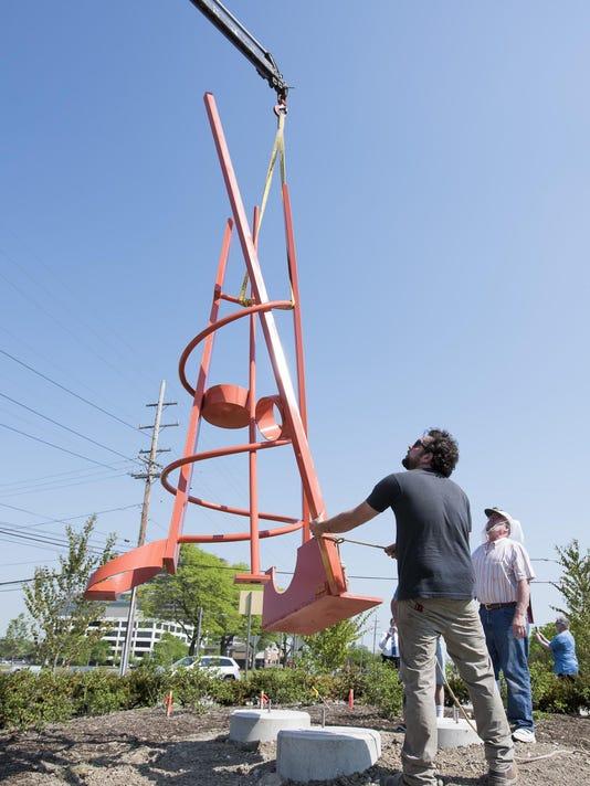 'Gratitude' sculpture installation