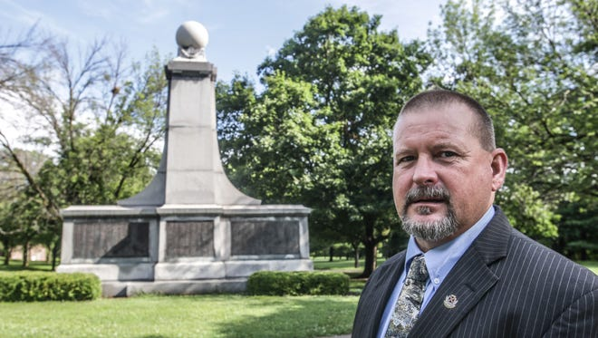 Brian Blevins, whose ancestors fought for the Union and Confederate side, spearheaded an effort in 2014 to refurbish the century-old Confederate memorial in Garfield Park.