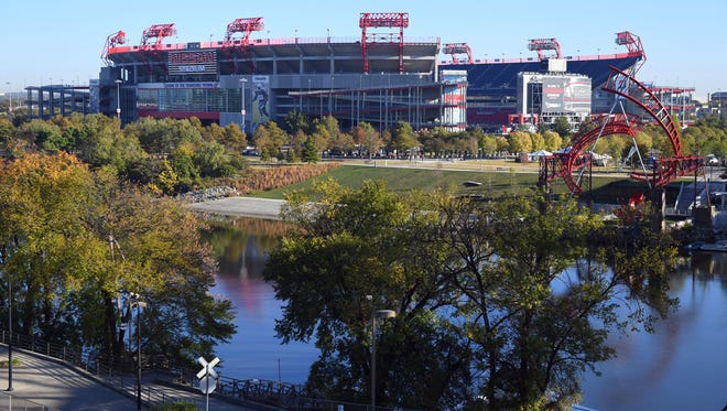 Nissan Stadium, home of the Tennessee Titans, on Oct. 23, 2016.