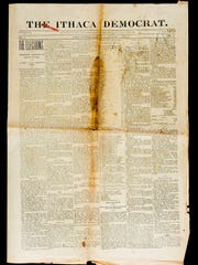 A copy of The Ithaca Democrat from Nov. 7, 1895, contained election results.