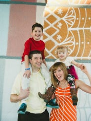 Adam and Amber Briggle with their two children.