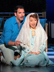 Guido Loconsolo as Figaro, and his bride, Susanna,