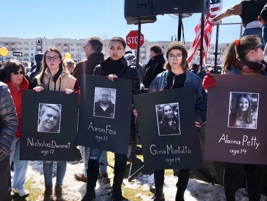 The Asbury Park March for Our Lives on Saturday, March 24 as photographed by Danny Clinch.
