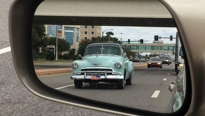 A 1952 Chevrolet down U.S. Highway 90 in Biloxi, Miss., on Friday Oct. 2, 2015 during the Cruisin' The Coast event for classic car owners and enthusiasts.