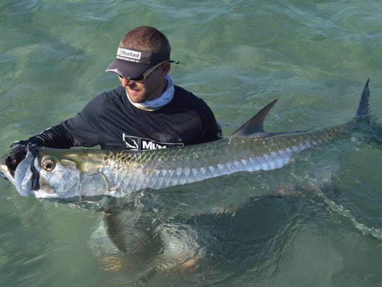 Capt. Chris Britton of Grey Ghost charters in Stuart said who needs snook when you can catch tarpon.
