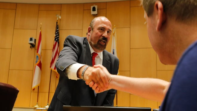 New Cape Coral Mayor Joe Coviello was sworn in Monday evening, November 20, in City Hall during a special ceremony. New incoming council members John Gunter, Jennifer Nelson and David Stokes were also sworn in, along with council member Rick Williams who will be serving his second term.