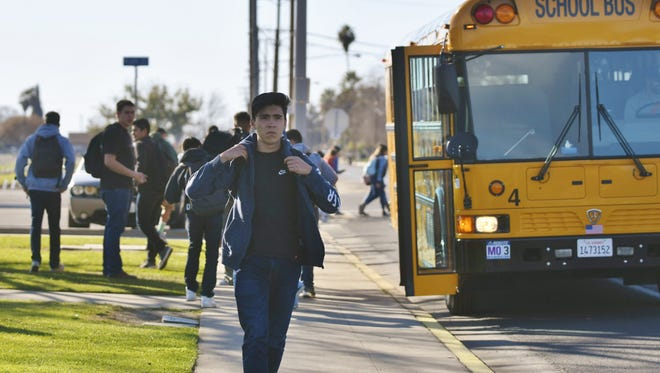 Tulare students walk home after a week of social media school shooting threats.