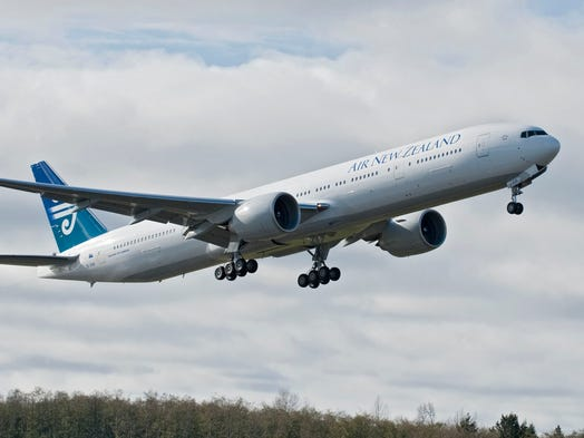 No. 50: Vancouver, Canada-Auckland, New Zealand (6,131 nautical miles): Air New Zealand (Boeing 777-200); 14 hours (outbound)