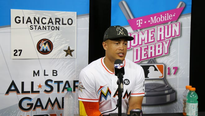 Giancarlo Stanton is the favorite to win the Home Run Derby.