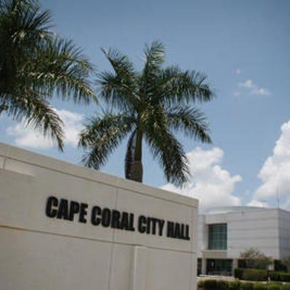 Cape Coral City Hall. Mayor Marni Sawicki's former