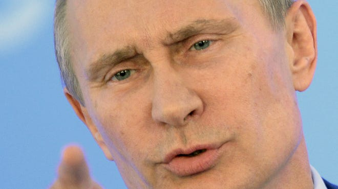 Russias President Vladimir Putin gestures during a press conference at the end of the G-20 summit  in September.